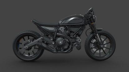 مدل سه بعدی موتور سیکلت دوکاتی Ducati Scrambler