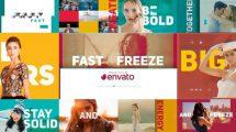 پروژه افترافکت افتتاحیه با افکت تثبیت فریم Fast Freeze