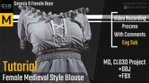 آموزش طراحی پیراهن قرون وسطایی در Marvelous Designer
