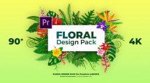 پروژه پریمیر مجموعه انیمیشن گل دار Floral Design Pack