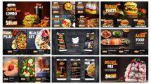 پروژه افترافکت استوری اینستاگرام تبلیغ غذا Food and Restaurant Promo