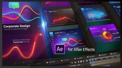 پروژه افترافکت ساخت اینفوگرافیک Graph Tool Infographics