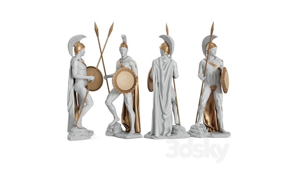 مدل سه بعدی کاراکتر جنگجو یونان باستان Greek Ares God War