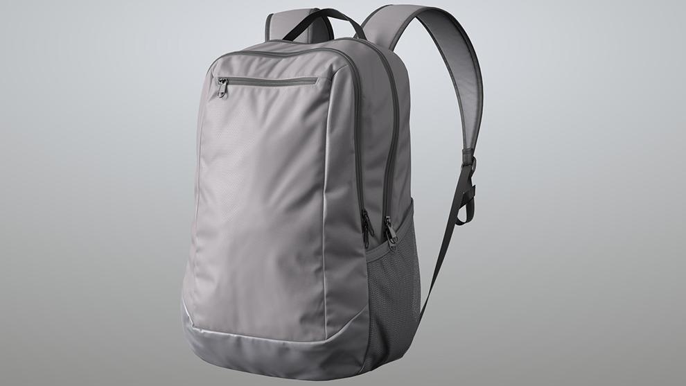 مدل سه بعدی کیف کوله Grey Backpack