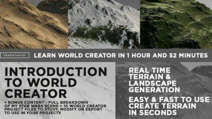آموزش طراحی سه بعدی با نرم افزار World Creator