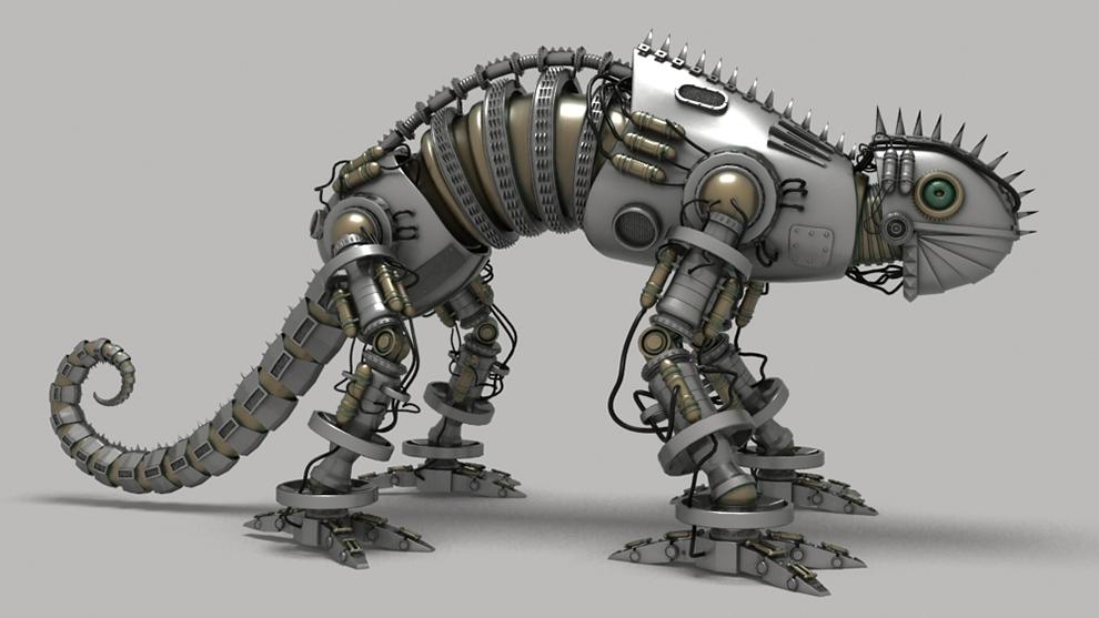 مدل سه بعدی ربات مارمولک Mecha Lizard Model