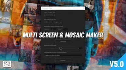 پروژه افترافکت ساخت صفحه نمایش موزاییکی Mosaic & Multiscreen Maker Auto