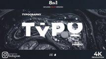 پروژه افترافکت تیزر تبلیغاتی با تایپوگرافی New Typography Promo