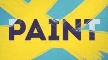 پروژه افترافکت مجموعه ترانزیشن با براش نقاشی Paint Brush Transitions