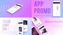 پروژه افترافکت تیزر تبلیغاتی اپلیکیشن Phone Mockup App Promo