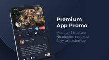 پروژه افترافکت تیزر تبلیغاتی اپلیکیشن Premium App Promo