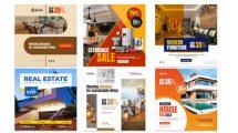 پروژه افترافکت مجموعه پست اینستاگرام مشاور املاک Real Estate Promo Instagram
