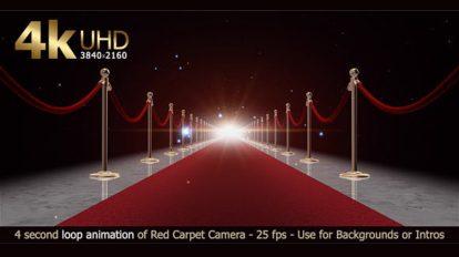 فوتیج لوپ حرکت روی فرش قرمز Red Carpet Loop