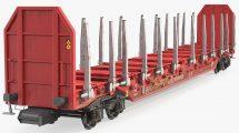 مدل سه بعدی واگن Rnoos 644 Stake Wagon Empty Dirty