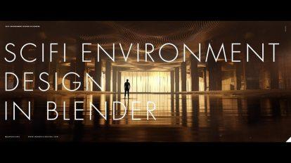 آموزش طراحی محیط سه بعدی علمی تخیلی در بلندر