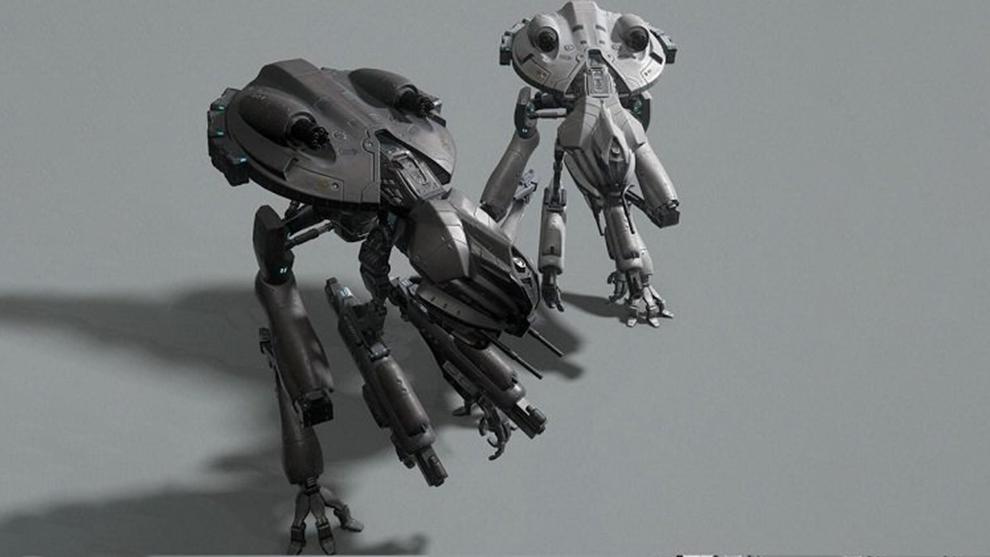 مدل سه بعدی ربات جنگنده Sci-Fi Mech