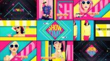 پروژه افترافکت افتتاحیه رنگارنگ Showtime
