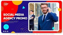 پروژه افترافکت تیزر تبلیغاتی شبکه اجتماعی Social Media Agency Promo