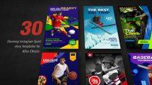 پروژه افترافکت مجموعه استوری اینستاگرام ورزشی Sport Promo Instagram Stories