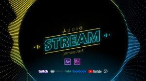 پروژه افترافکت ویژوالایزر استریم موزیک Stream Audio Pack