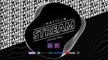 پروژه افترافکت اجزای ویدیویی استریم چت Stream Chatting Pack