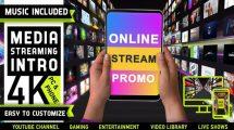 پروژه افترافکت نمایش لوگو استریم آنلاین Media Streaming Content Intro
