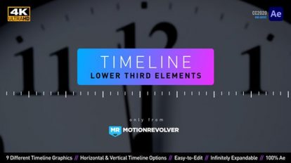 پروژه افترافکت زیرنویس تایم لاین Timeline Lower Third Elements