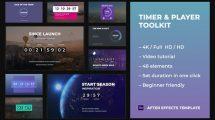 پروژه افترافکت ساخت تایمر و شمارش معکوس Timer Player Toolkit