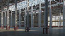 مدل سه بعدی انبار سوله Warehouse 01