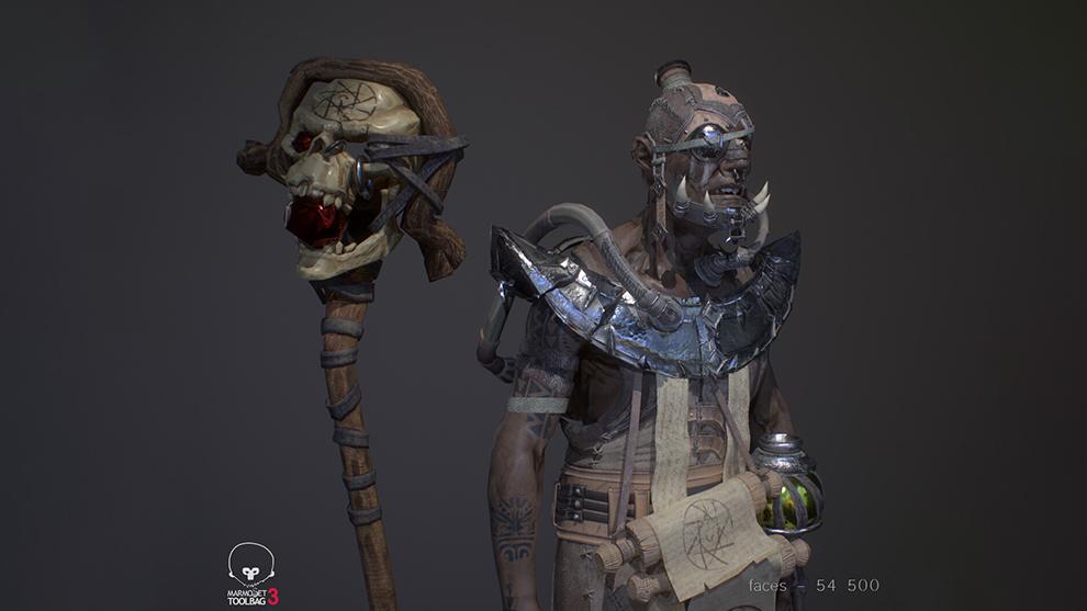 مدل سه بعدی کاراکتر تخیلی Warlock