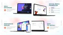 پروژه افترافکت پرزنتیشن وبسایت با تجهیزات هوشمند Website Presentation