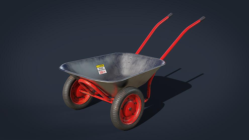 مدل سه بعدی فرغون Wheelbarrow