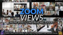 پروژه افترافکت اجزای ویدیویی کنفرانس آنلاین Online Video Conferencing Toolkit