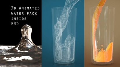 پروژه افترافکت مجموعه انیمیشن آب Animated 3D Water Pack