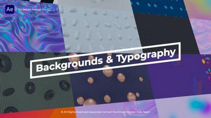 پروژه افترافکت مجموعه زمینه متحرک و عناوین Animated Backgrounds Titles