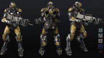 مدل سه بعدی ربات جنگی Anthem Warrior Suit