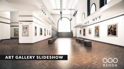 پروژه افترافکت گالری هنری Art Gallery Museum