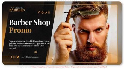 پروژه افترافکت تیزر تبلیغاتی آرایشگر Barber Shop Promo