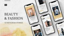 پروژه افترافکت استوری اینستاگرام فشن Beauty Fashion Instagram Stories