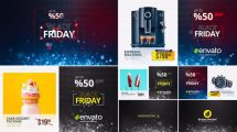 پروژه افترافکت تیزر تبلیغاتی فروش ویژه Black Friday Sale