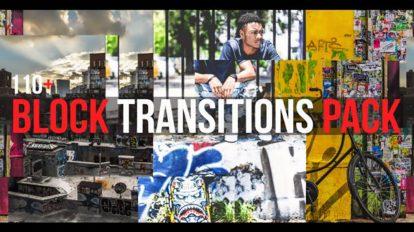 پروژه افترافکت مجموعه ترانزیشن بلوکی Block Transitions Pack