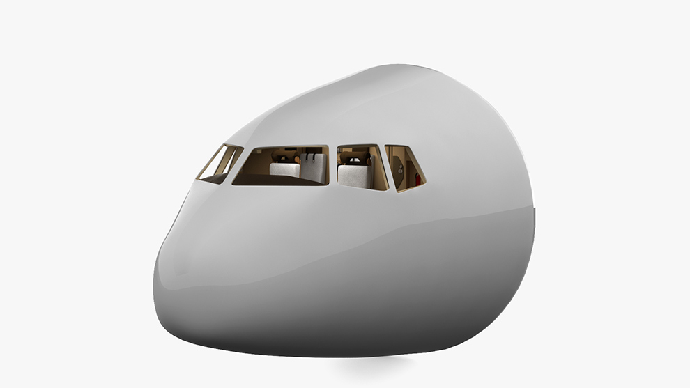 مدل سه بعدی کابین هدایت هواپیما Boeing 777 Cockpit