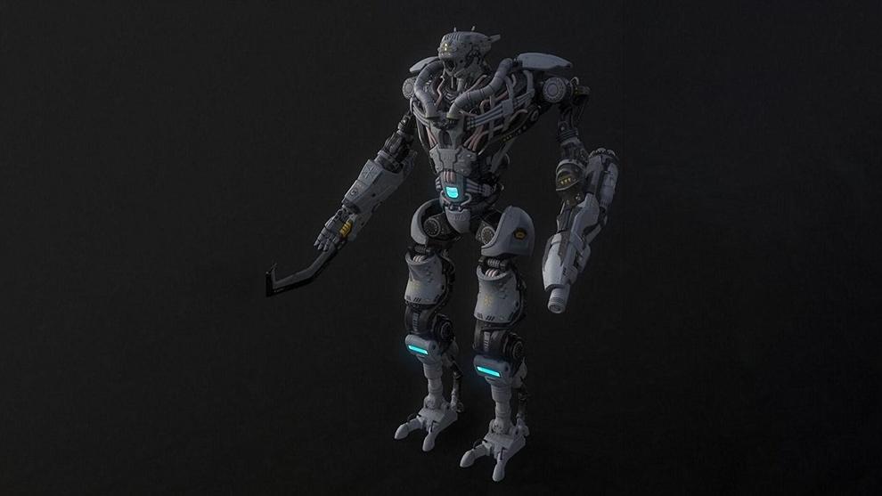 مدل سه بعدی ربات غول پیکر Collossus