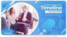 پروژه افترافکت تایم لاین کسب و کار Corporate Business Timeline Slideshow