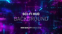 فوتیج موشن گرافیک زمینه متحرک هایتک Cyber Sci-Fi HUD Background