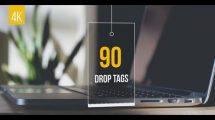 پروژه افترافکت مجموعه برچسب قیمت Drop Tags