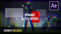 پروژه افترافکت افتتاحیه با افکت گلیچ Dynamic Glitch Opener