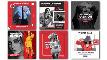 پروژه افترافکت پست اینستاگرام فشن Fashion Advertising Post