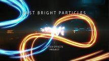 پروژه افترافکت نمایش لوگو با پارتیکل های نور Fast Bright Particles