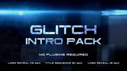 پروژه افترافکت اینترو با افکت گلیچ Glitch Intro